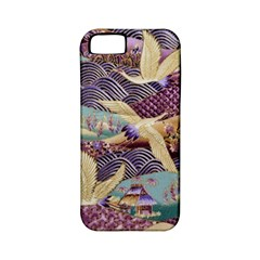 Textile Fabric Cloth Pattern Apple Iphone 5 Classic Hardshell Case (pc+silicone)