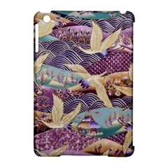 Textile Fabric Cloth Pattern Apple Ipad Mini Hardshell Case (compatible With Smart Cover)