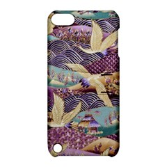 Textile Fabric Cloth Pattern Apple Ipod Touch 5 Hardshell Case With Stand