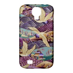 Textile Fabric Cloth Pattern Samsung Galaxy S4 Classic Hardshell Case (pc+silicone)