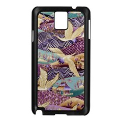 Textile Fabric Cloth Pattern Samsung Galaxy Note 3 N9005 Case (black)