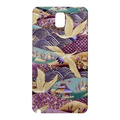 Textile Fabric Cloth Pattern Samsung Galaxy Note 3 N9005 Hardshell Back Case