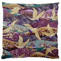 Textile Fabric Cloth Pattern Large Flano Cushion Case (one Side)
