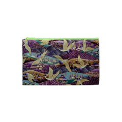 Textile Fabric Cloth Pattern Cosmetic Bag (xs)