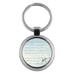 Vintage Blue Music Notes Key Chains (round)