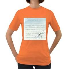 Vintage Blue Music Notes Women s Dark T Shirt
