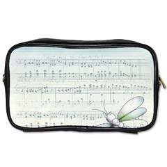 Vintage Blue Music Notes Toiletries Bags 2 Side