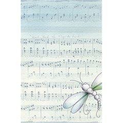 Vintage Blue Music Notes 5 5  X 8 5  Notebooks