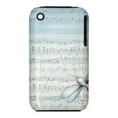 Vintage Blue Music Notes Iphone 3s/3gs