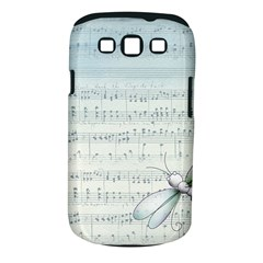 Vintage Blue Music Notes Samsung Galaxy S Iii Classic Hardshell Case (pc+silicone)