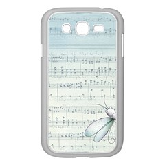 Vintage Blue Music Notes Samsung Galaxy Grand Duos I9082 Case (white)