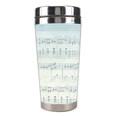 Vintage Blue Music Notes Stainless Steel Travel Tumblers