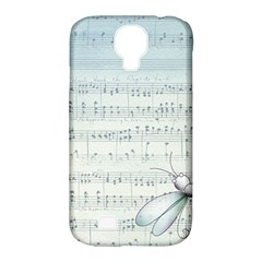 Vintage Blue Music Notes Samsung Galaxy S4 Classic Hardshell Case (pc+silicone)