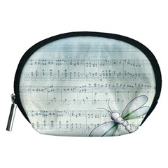Vintage Blue Music Notes Accessory Pouches (medium)