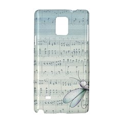 Vintage Blue Music Notes Samsung Galaxy Note 4 Hardshell Case