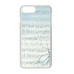 Vintage Blue Music Notes Apple Iphone 8 Plus Seamless Case (white)