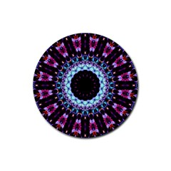 Kaleidoscope Shape Abstract Design Rubber Round Coaster (4 Pack)