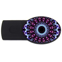Kaleidoscope Shape Abstract Design Usb Flash Drive Oval (4 Gb)