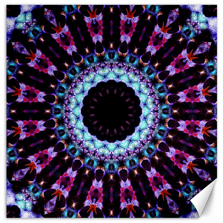 Kaleidoscope Shape Abstract Design Canvas 16  x 16