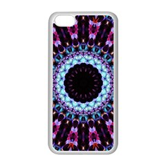 Kaleidoscope Shape Abstract Design Apple Iphone 5c Seamless Case (white)