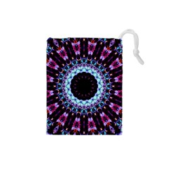 Kaleidoscope Shape Abstract Design Drawstring Pouches (small)