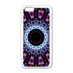 Kaleidoscope Shape Abstract Design Apple Iphone 6/6s White Enamel Case