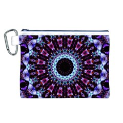 Kaleidoscope Shape Abstract Design Canvas Cosmetic Bag (l)
