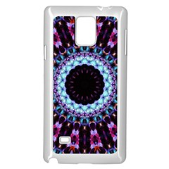 Kaleidoscope Shape Abstract Design Samsung Galaxy Note 4 Case (white)