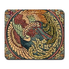 Wings Feathers Cubism Mosaic Large Mousepads