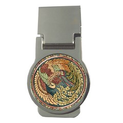 Wings Feathers Cubism Mosaic Money Clips (round)