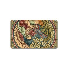 Wings Feathers Cubism Mosaic Magnet (name Card)