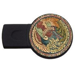 Wings Feathers Cubism Mosaic Usb Flash Drive Round (4 Gb)