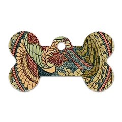 Wings Feathers Cubism Mosaic Dog Tag Bone (two Sides)