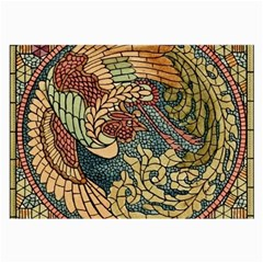 Wings Feathers Cubism Mosaic Large Glasses Cloth