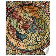Wings Feathers Cubism Mosaic Canvas 11  X 14