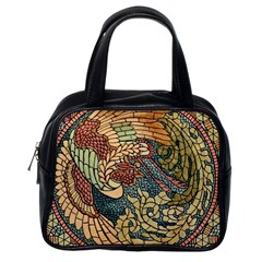 Wings Feathers Cubism Mosaic Classic Handbags (one Side)