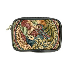 Wings Feathers Cubism Mosaic Coin Purse