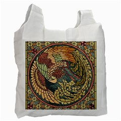 Wings Feathers Cubism Mosaic Recycle Bag (two Side)