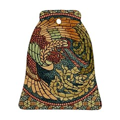 Wings Feathers Cubism Mosaic Bell Ornament (two Sides)