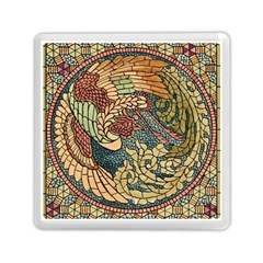 Wings Feathers Cubism Mosaic Memory Card Reader (square)