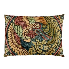 Wings Feathers Cubism Mosaic Pillow Case (two Sides)