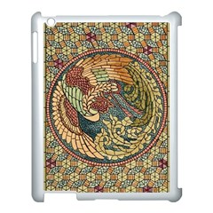 Wings Feathers Cubism Mosaic Apple Ipad 3/4 Case (white)