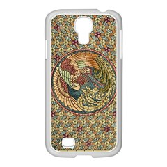 Wings Feathers Cubism Mosaic Samsung Galaxy S4 I9500/ I9505 Case (white)