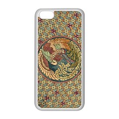 Wings Feathers Cubism Mosaic Apple Iphone 5c Seamless Case (white)