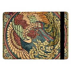 Wings Feathers Cubism Mosaic Samsung Galaxy Tab Pro 12 2  Flip Case