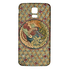 Wings Feathers Cubism Mosaic Samsung Galaxy S5 Back Case (white)