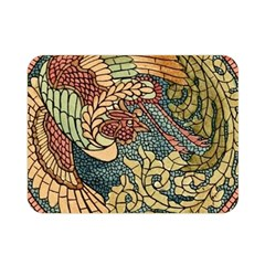 Wings Feathers Cubism Mosaic Double Sided Flano Blanket (mini)