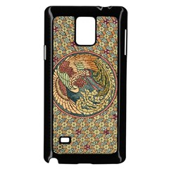 Wings Feathers Cubism Mosaic Samsung Galaxy Note 4 Case (black)