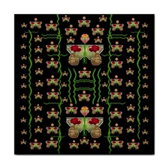 Roses In The Soft Hands Makes A Smile Pop Art Tile Coasters