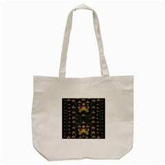 Roses In The Soft Hands Makes A Smile Pop Art Tote Bag (cream)